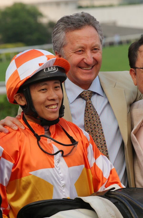 Alex Lai and David Ferraris after Amazing Agility's win in 2016.