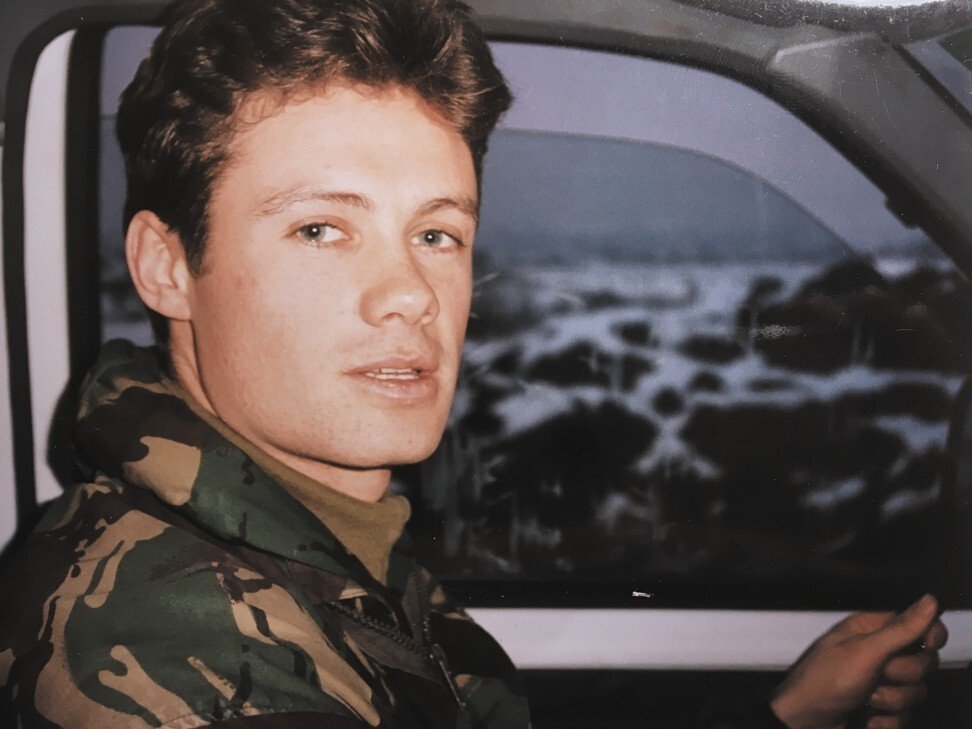 Wilson while in the army, in Bosnia, in the 1990s. Photo: Handout