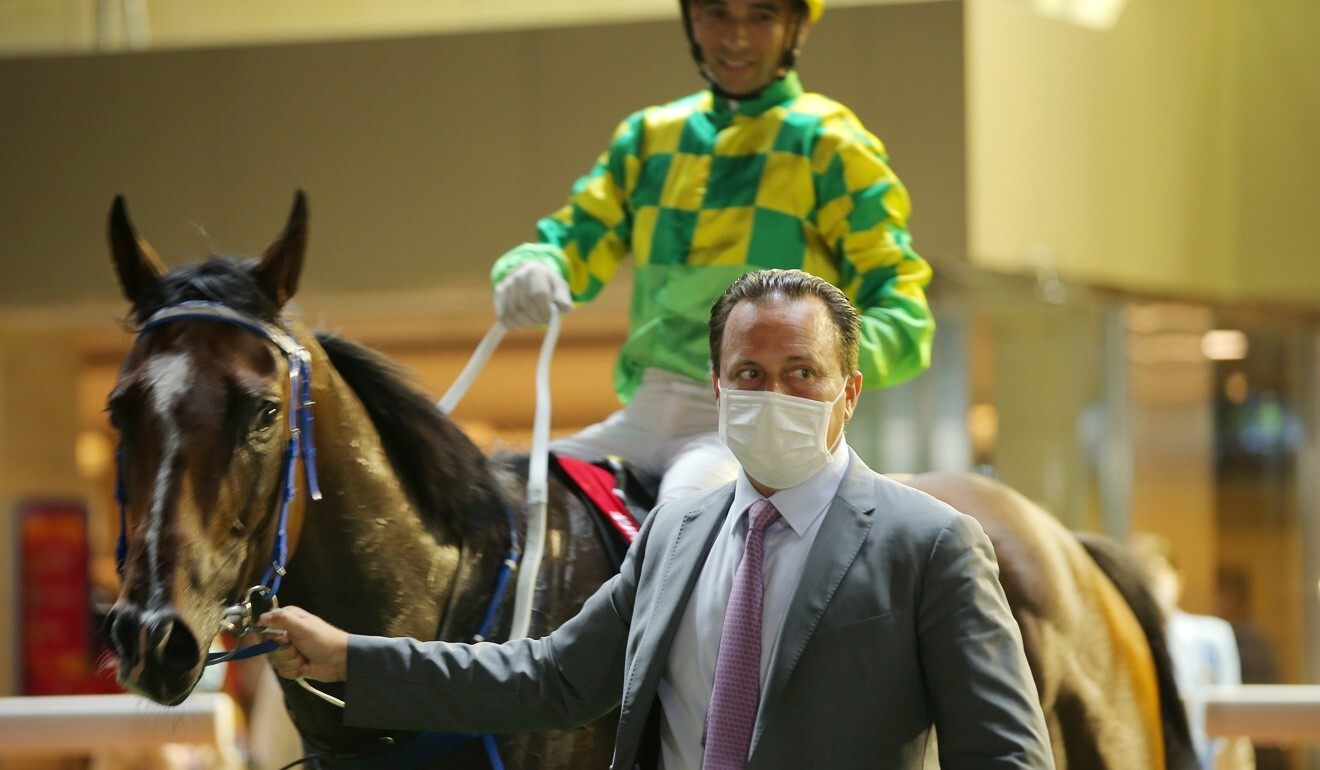 Caspar Fownes leads Green Aeon after winning at Happy Valley.