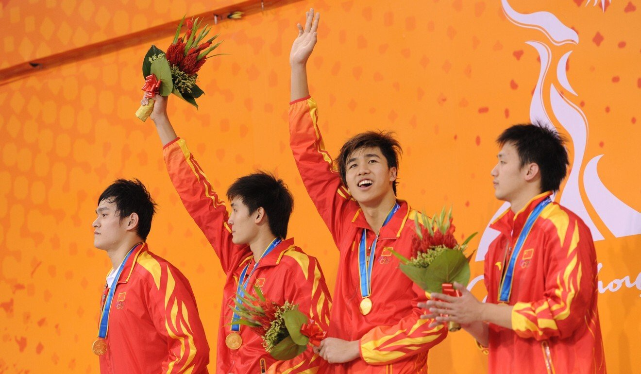Jiang Haiqi (2nd right) was part of the Chinese team that won bronze in London in 2012. Photo: AFP