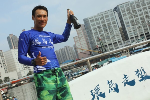 Wong Ho-fai will leverage his paddle to educate teenagers on plastic pollution. Photo: K.Y. Cheng