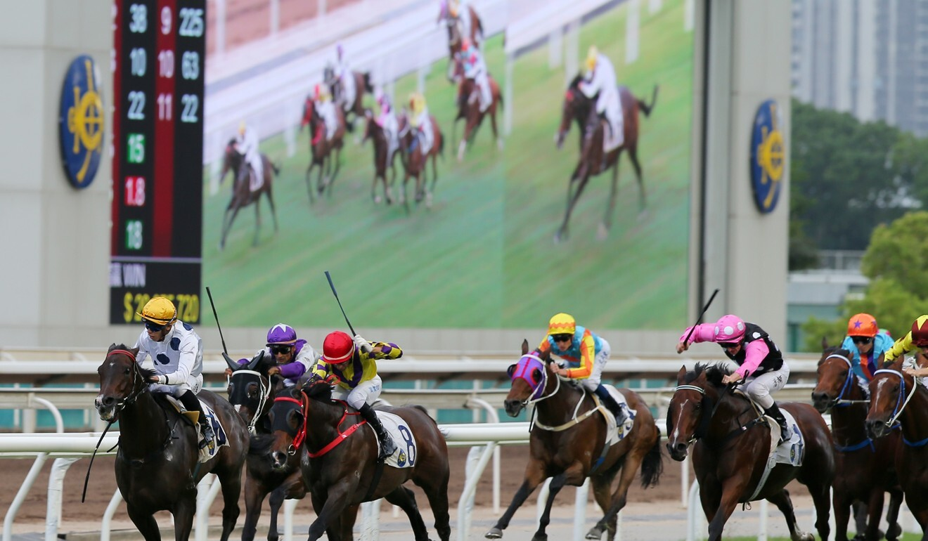 Golden Sixty bolts in under Vincent Ho at Sha Tin on Sunday.