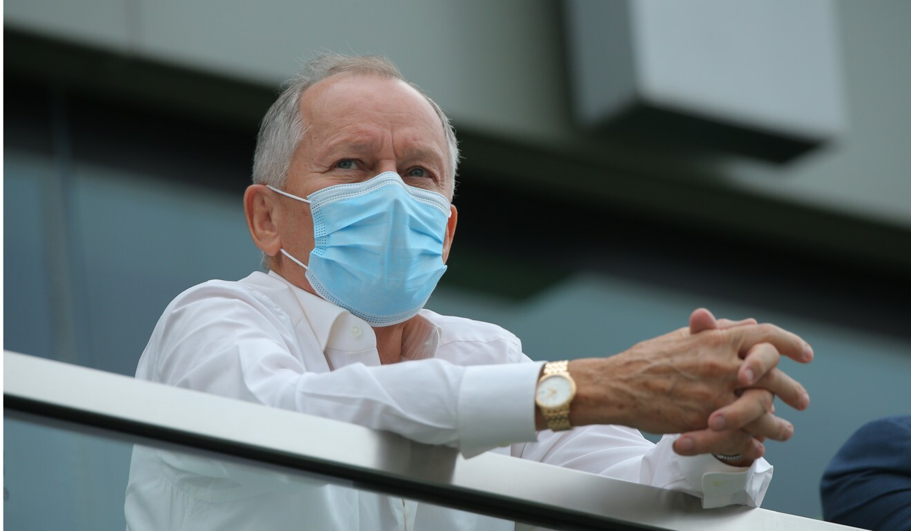 John Moore watches the races at Sha Tin on Sunday.