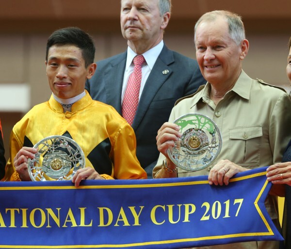 Vincent Ho and John Moore after the 2017 National Day Cup.