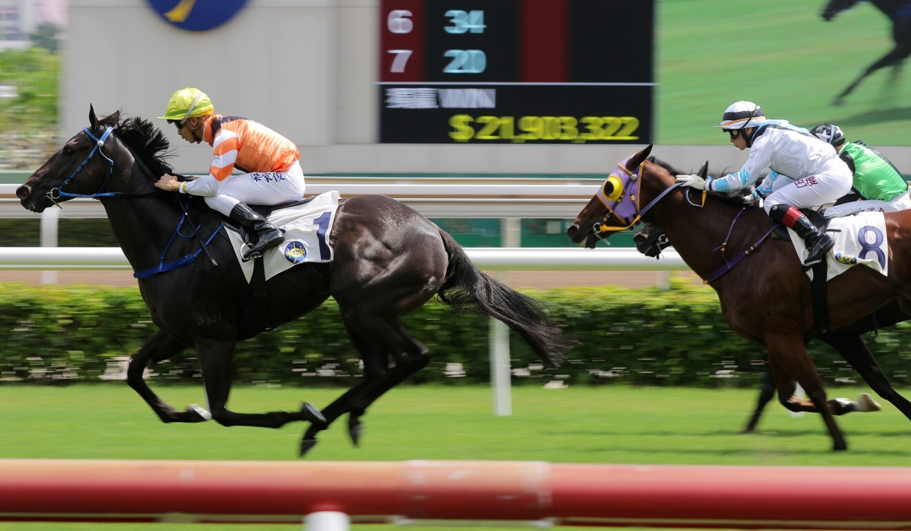 Pegasus Glory salutes at Sha Tin on Thursday.