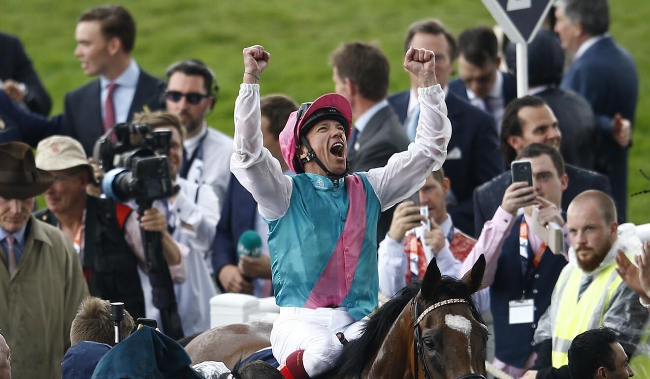 A jubilant Frankie Dettori.