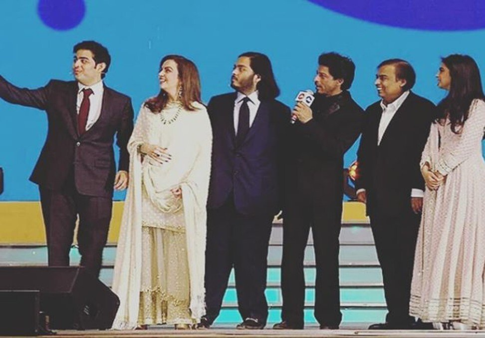 The Ambani family. Photo: @anant_ambani_fan__club/Instagram