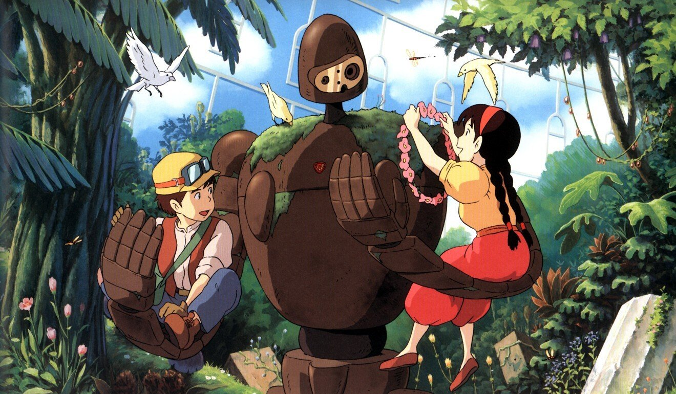 A still from Castle in the Sky (1986), which was retitled Laputa: Castle in the Sky for re-release in the UK and Australia. Photo: Studio Ghibli