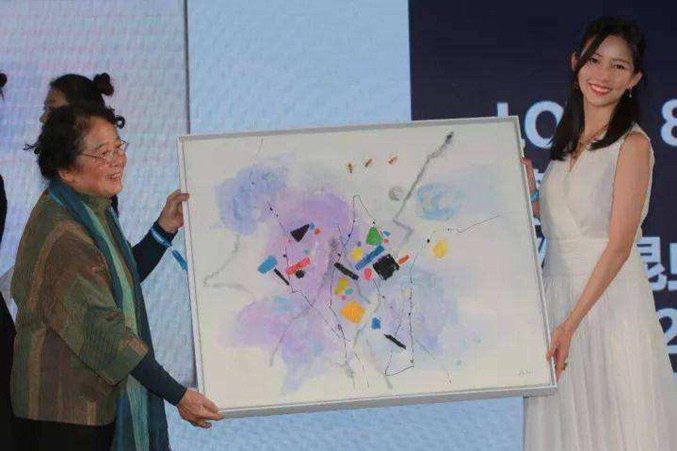 Xie Qirun is passionate about art. Photo: Sohu