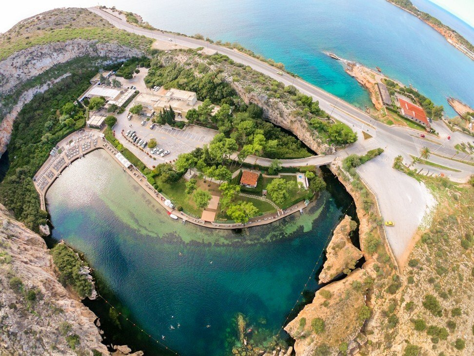Lake Vouliagmeni is a popular attraction at the heart of the Athenian Riviera. Photo: Discover Greece