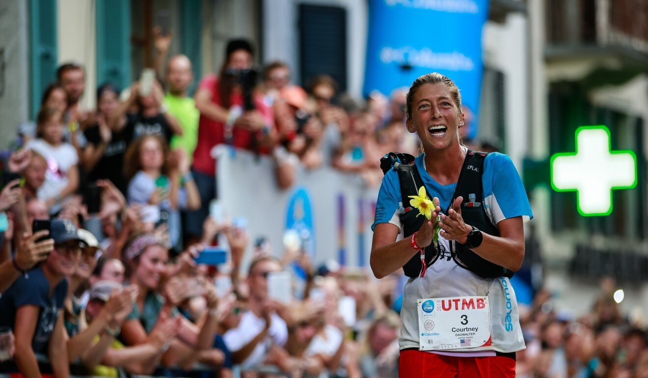 Courtney Dauwalter wins the Ultra Trail du Mont Blanc 2019. Two years extra experience will help at Big Dog's. Photo: UTMB/Christophe Pallot