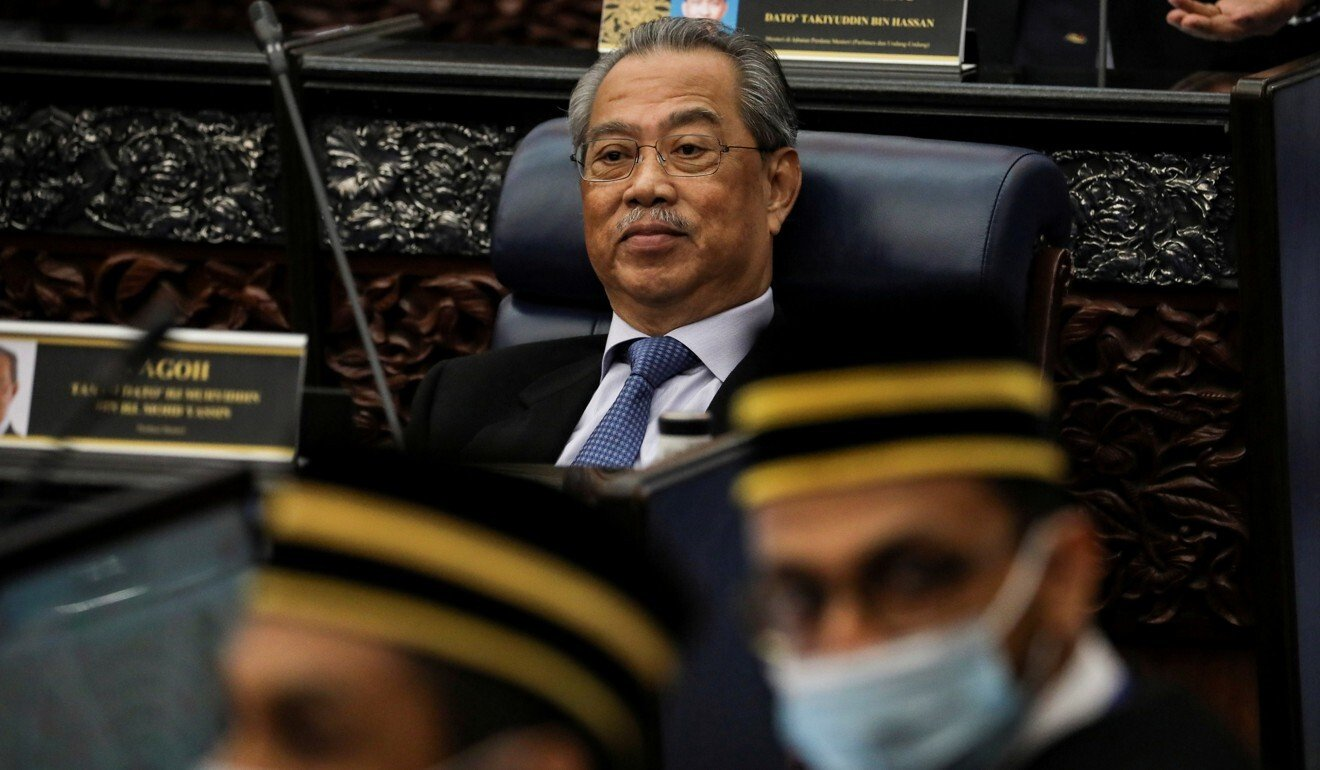 Malaysia's Prime Minister Muhyiddin Yassin pictured during a session of the lower house of parliament in Kuala Lumpur in July. Photo: Reuters