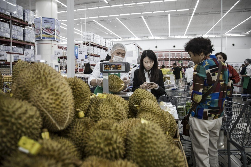 China has succumbed to a growing trend for the divisive Southeast Asian fruit durian. Photo: Bloomberg