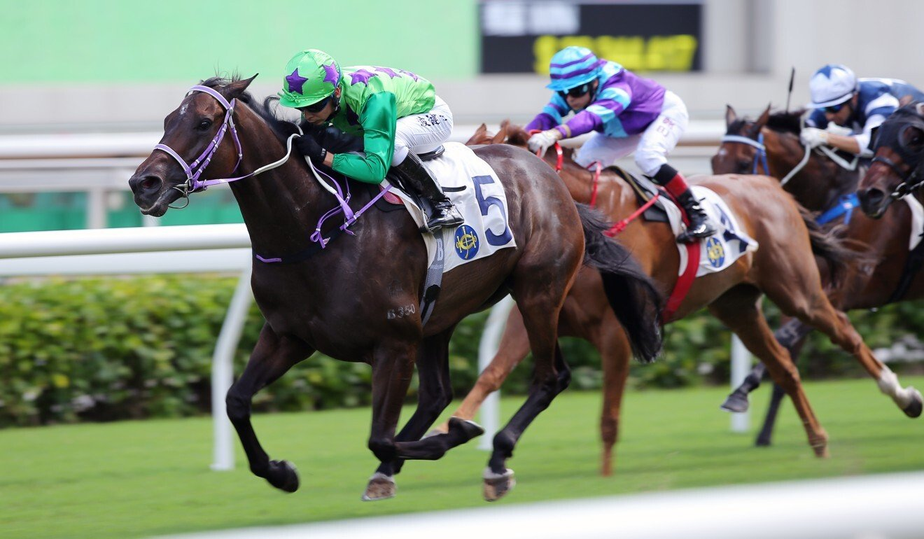 Tianchi Monster salutes at Sha Tin last month.