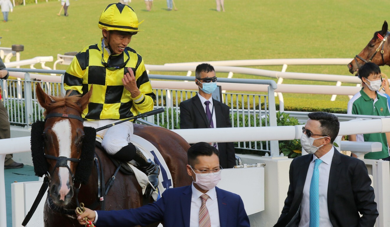 Jockey Vincent Ho and trainer Douglas Whyte debrief after Stronger's victory.