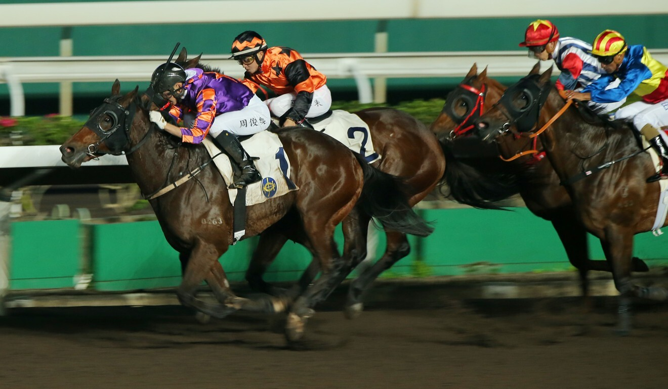 Demons Rock dashes clear to victory under Jerry Chau at Sha Tin.