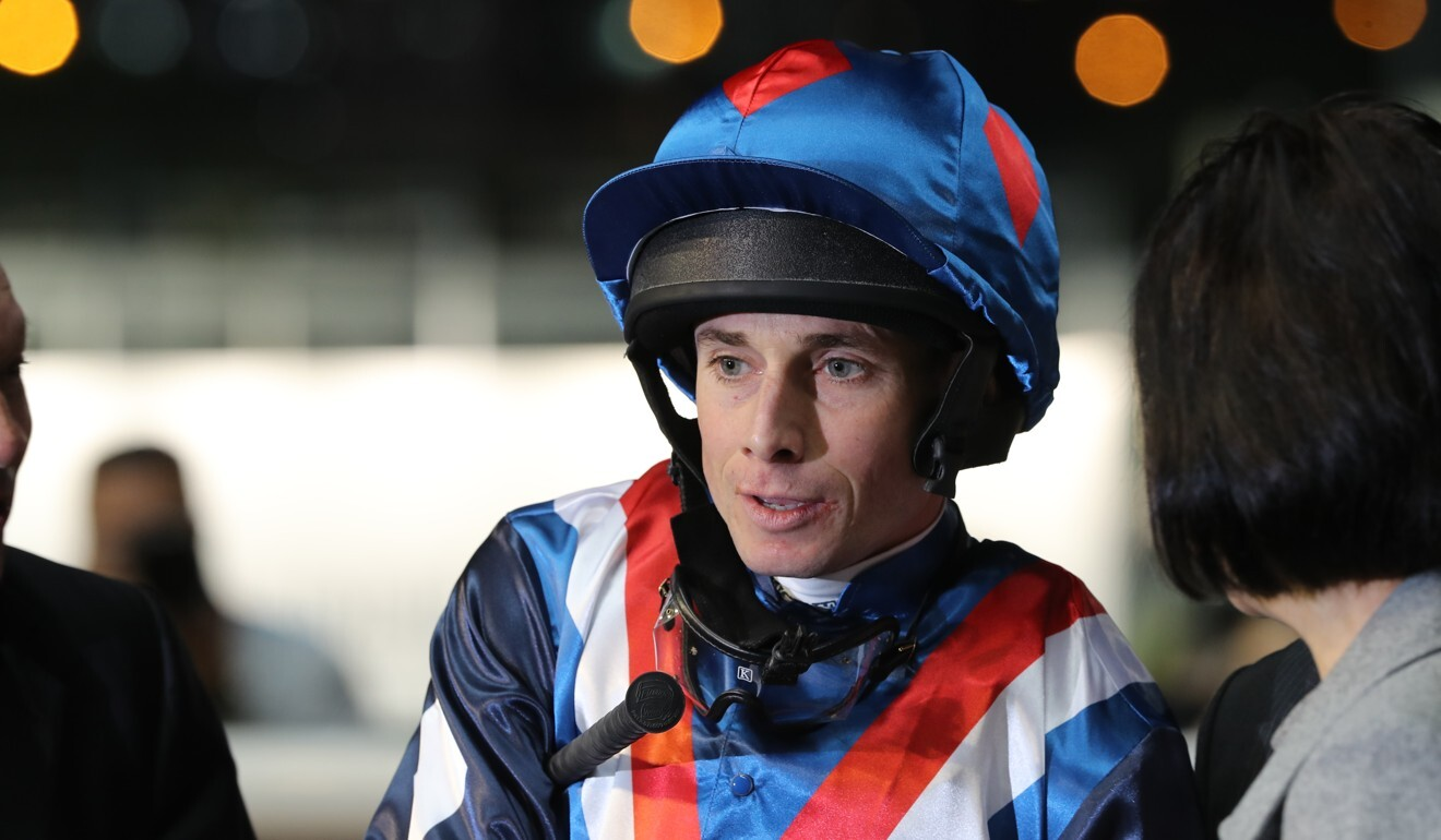Ryan Moore after a winner at Happy Valley in 2019.