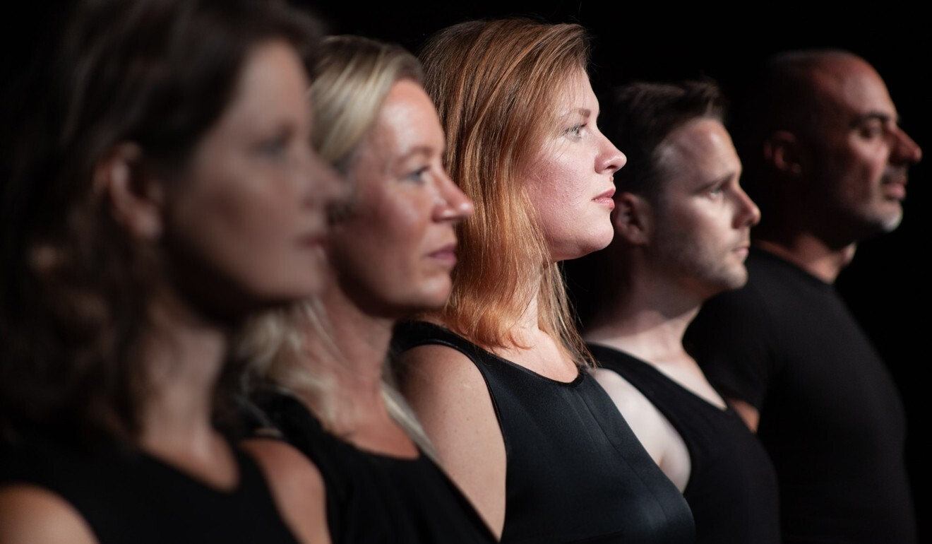 Denmark's vocal ensemble, Theatre of Voices, appear as holograms in Hong Kong's virtual reality night production, Aria.