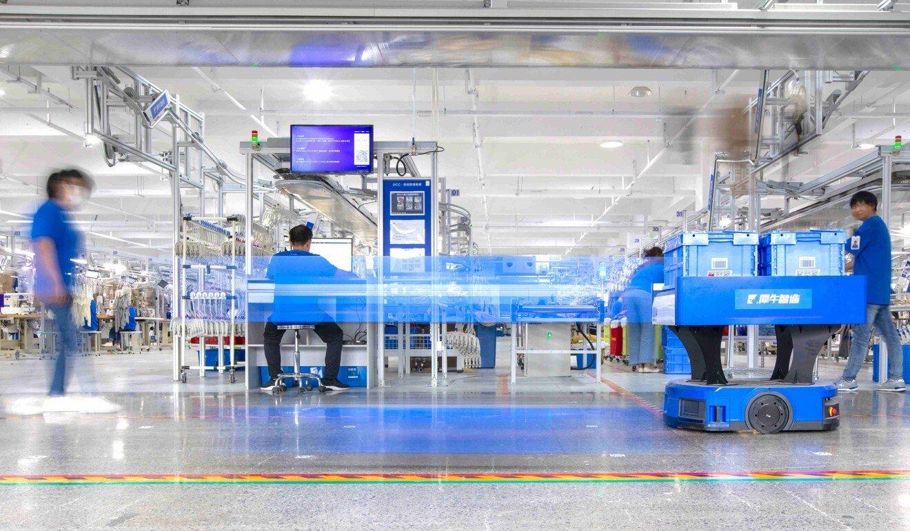 Chinese e-commerce giant Alibaba Group Holding unveiled its Hangzhou-based Xunxi Digital Factory on September 16, 2020.