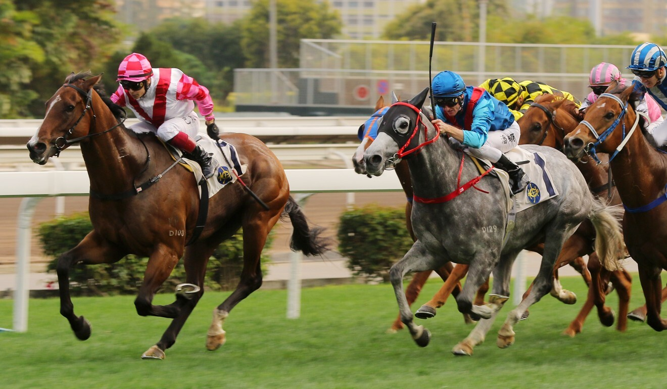 Alexis Badel storms home on Super Wealthy to win at Sha Tin.
