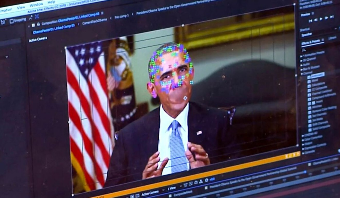 A fake video featuring former US president Barack Obama. Concerns are growing that deepfakes could be used to persuade people to take action by convincing them a request is coming from a person of authority. Photo: AP