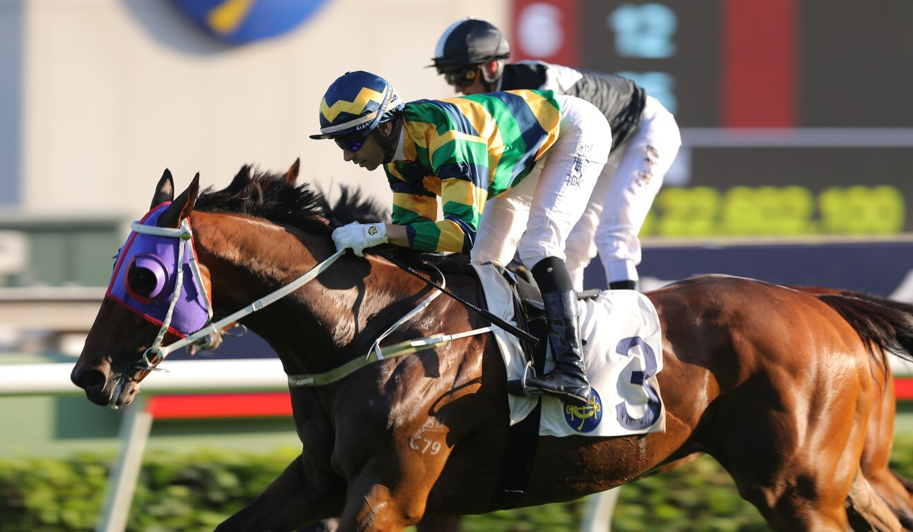 Furore wins the Jockey Club Cup on Sunday.