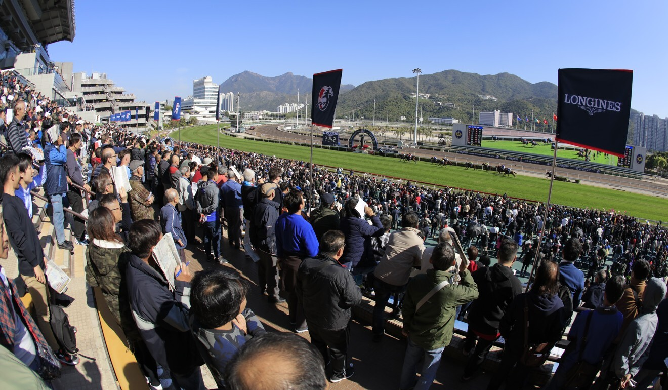 Fans pack the stands at the 2019 Hong Kong International Races.