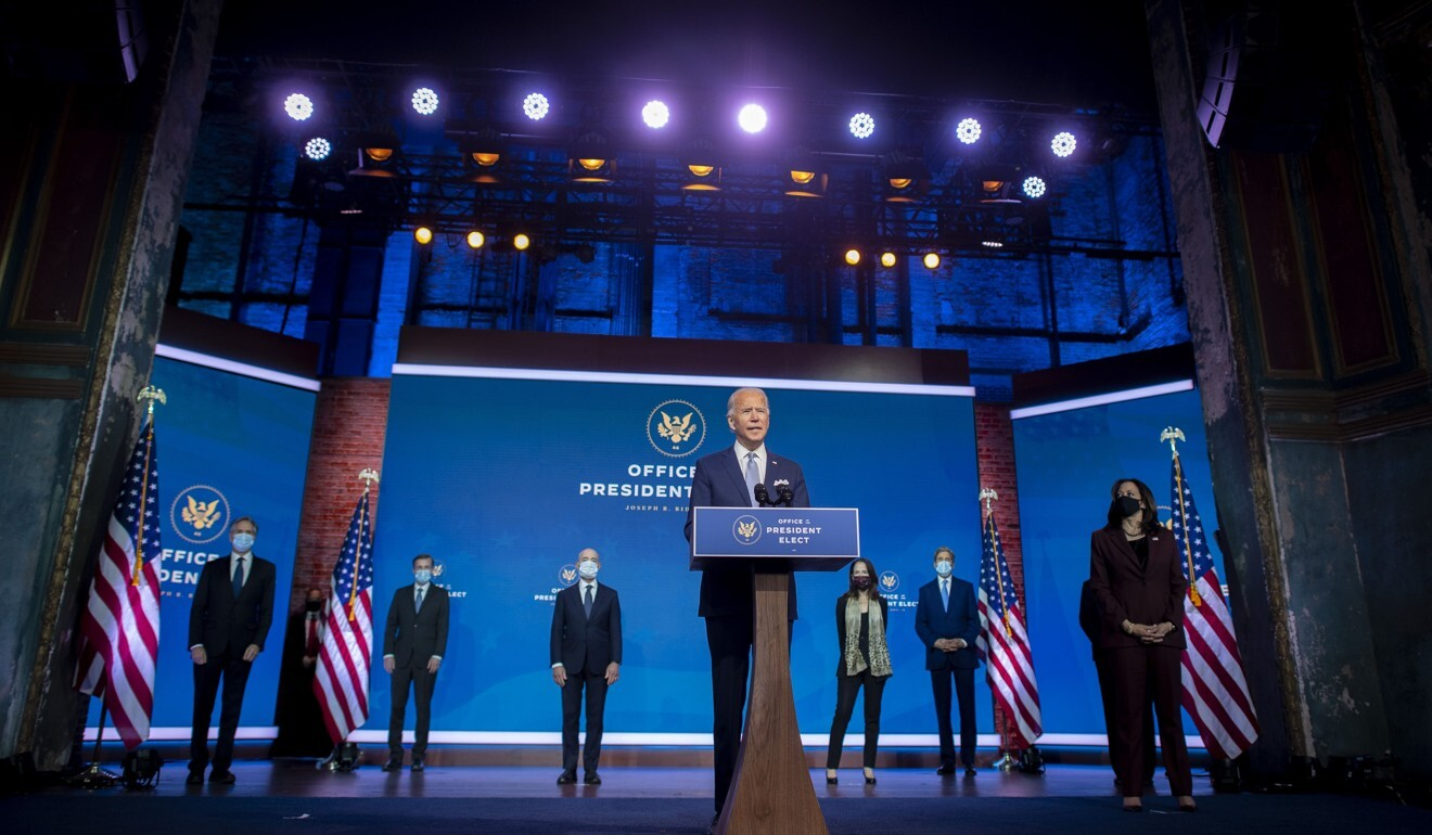 US president-elect Joe Biden introduces his choices for key foreign policy and national security posts on Tuesday in Wilmington, Delaware. Photo: Getty Images/AFP
