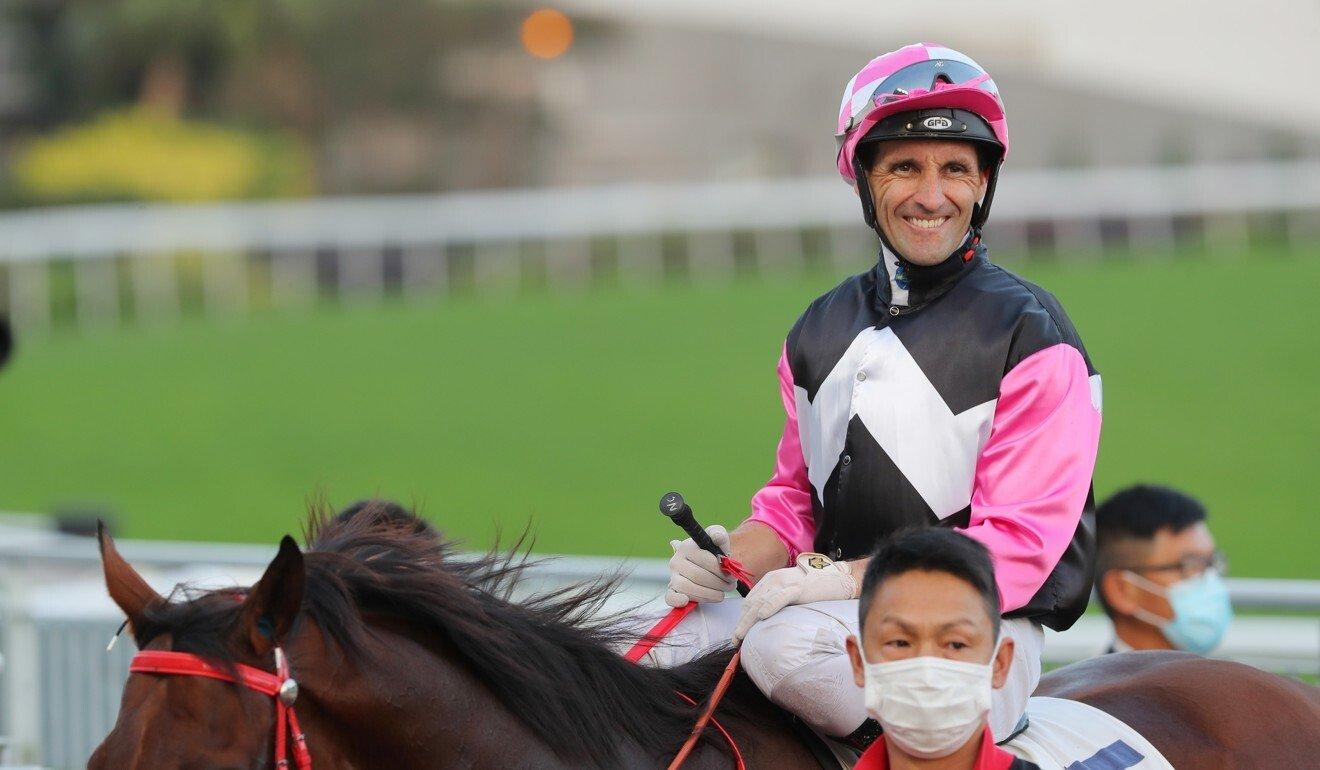 Neil Callan smiles after a winner this season.