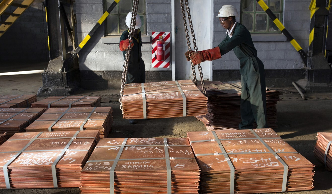 Spot copper prices last week hit a two-year high of US$7,356 per tonne. Photo: Getty Images