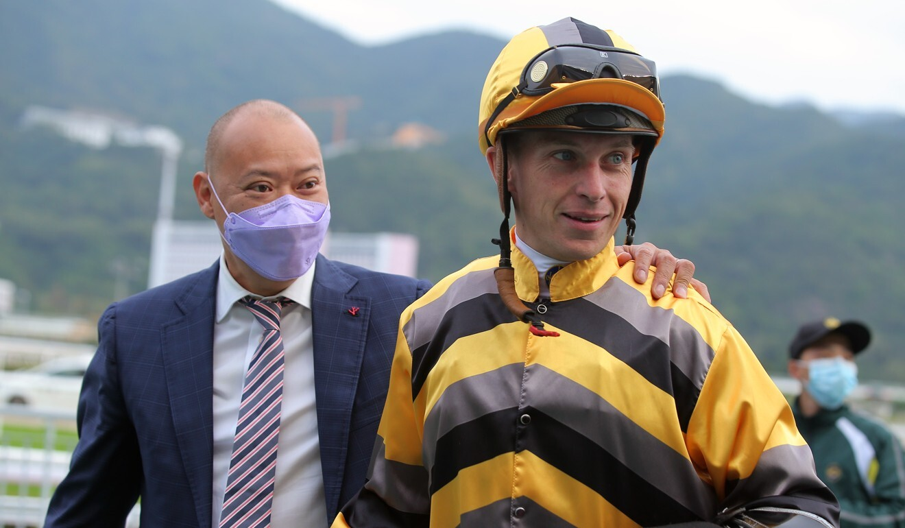 Chris So with Tony Piccone after Team Spirit's victory.