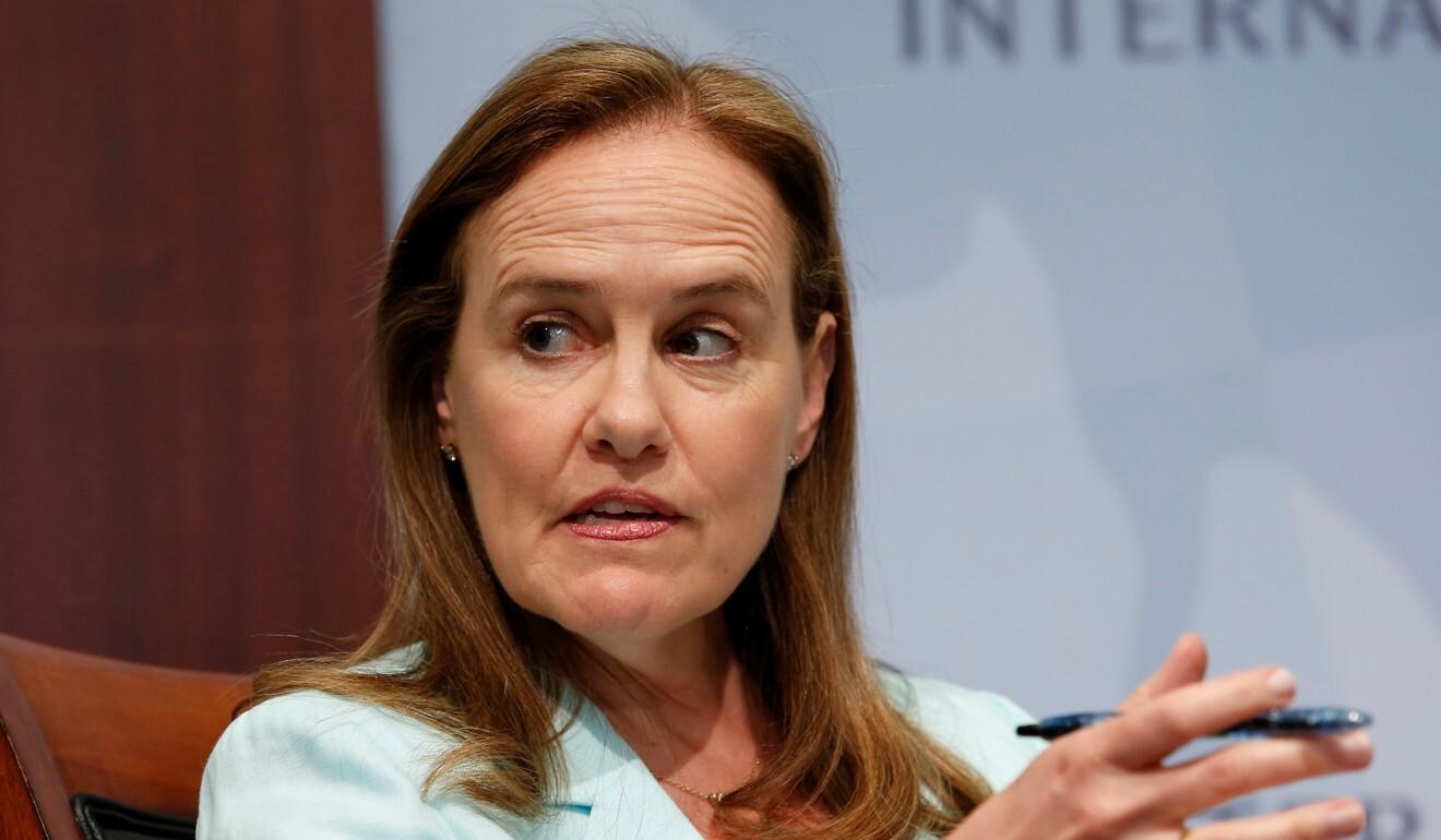 Michele Flournoy speaks in Washington in 2014. Photo: Reuters