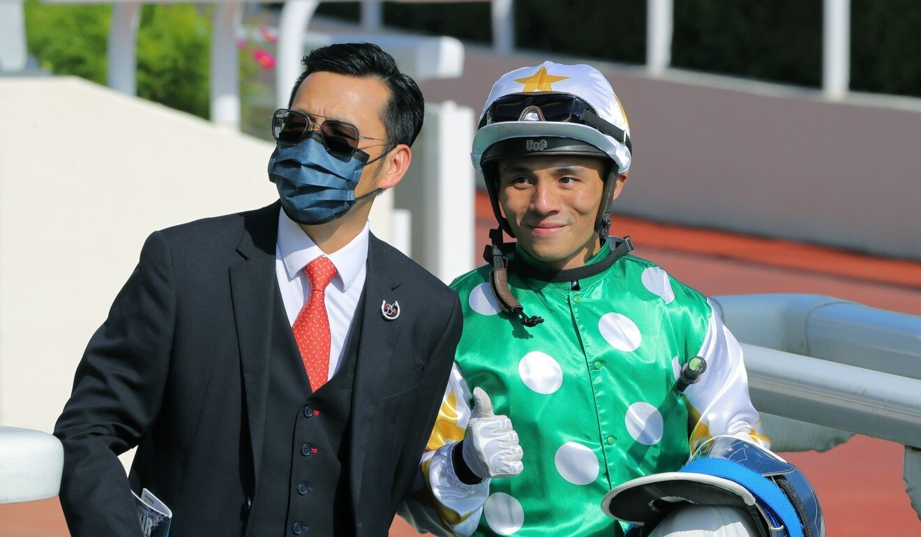 Trainer Frankie Lor and his apprentice Alfred Chan.