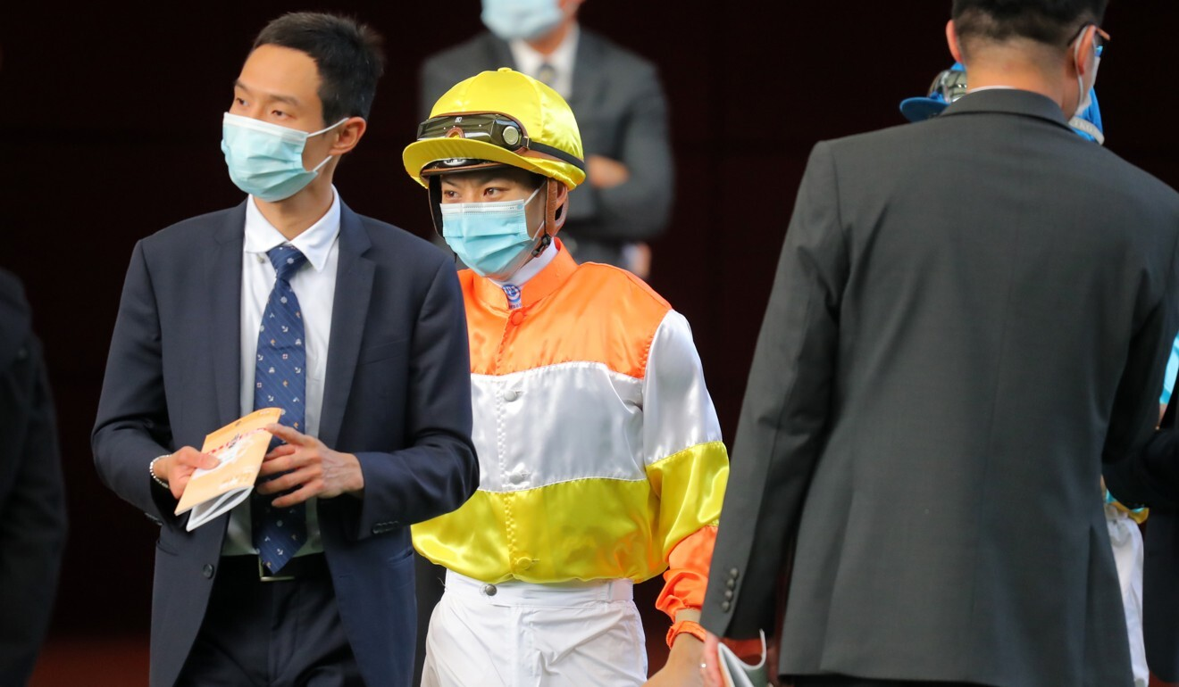 Matthew Chadwick prior to riding Lucky Fun at Sha Tin last week.