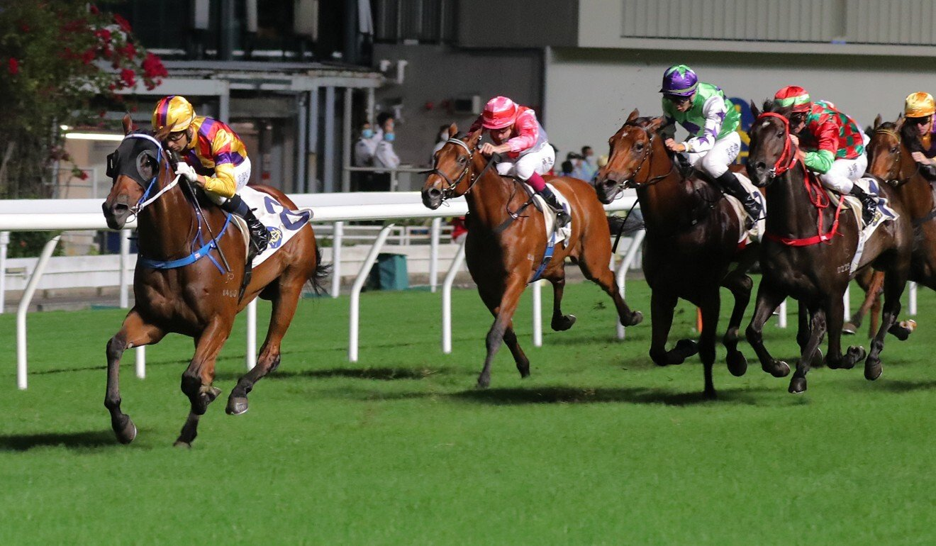 Royal Racer wins easily at Happy Valley last month.