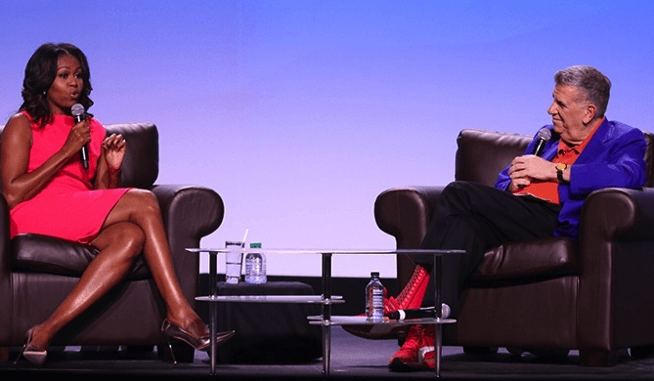 Elliott Masie (right), e-learning advocate and chairman of The Learning Consortium, has worked with other notable supporters of global education reform, such as Michelle Obama (left), the former US first lady. Photo: Ed Burke