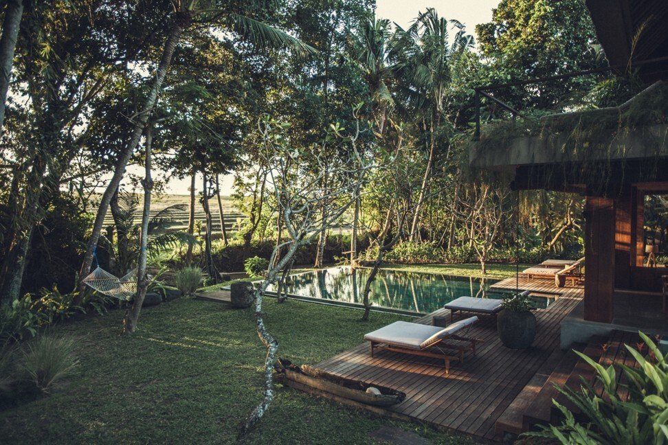 A luxury retreat on the banks of the Pancaran River, overlooking rice paddies in the village of Pererenan, for sale for US$2 million. Photo: luxuryestate.com
