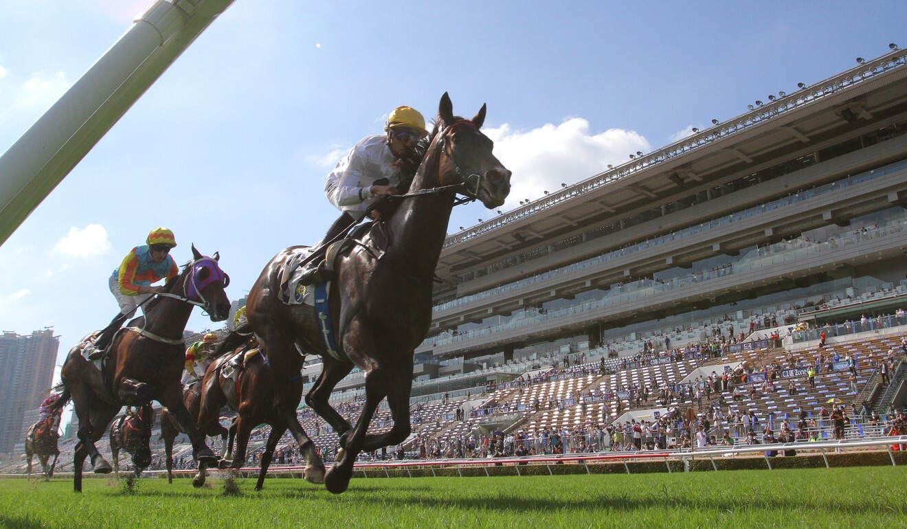 Golden Sixty wins the Group Two Jockey Club Mile at Sha Tin.