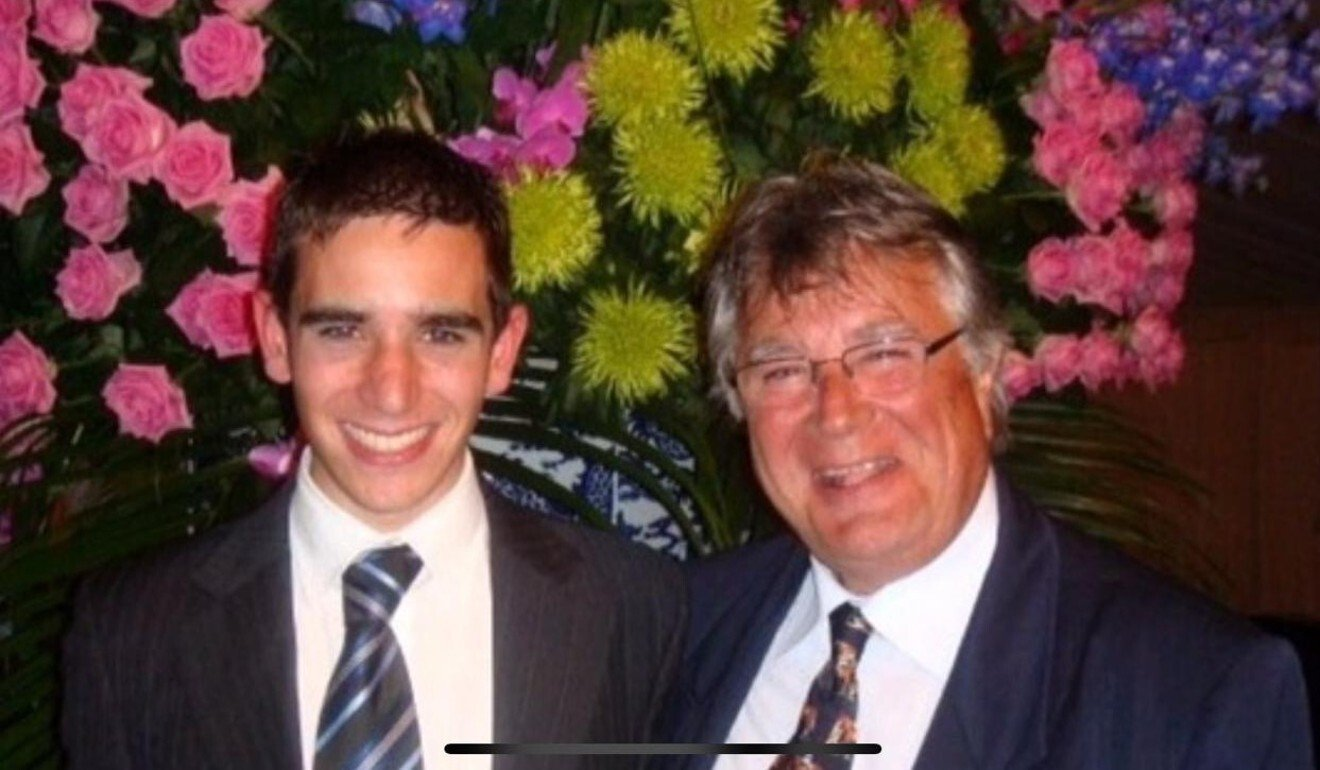 Jerome Reynier with his father Serge after the young trainer graduated from Godolphin's Flying Start programme in 2008. Photo: Jerome Reynier