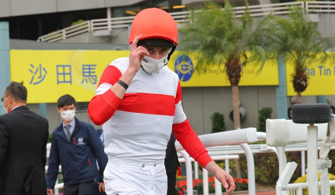 Ryan Moore salutes after his victory aboard Danon Smash.