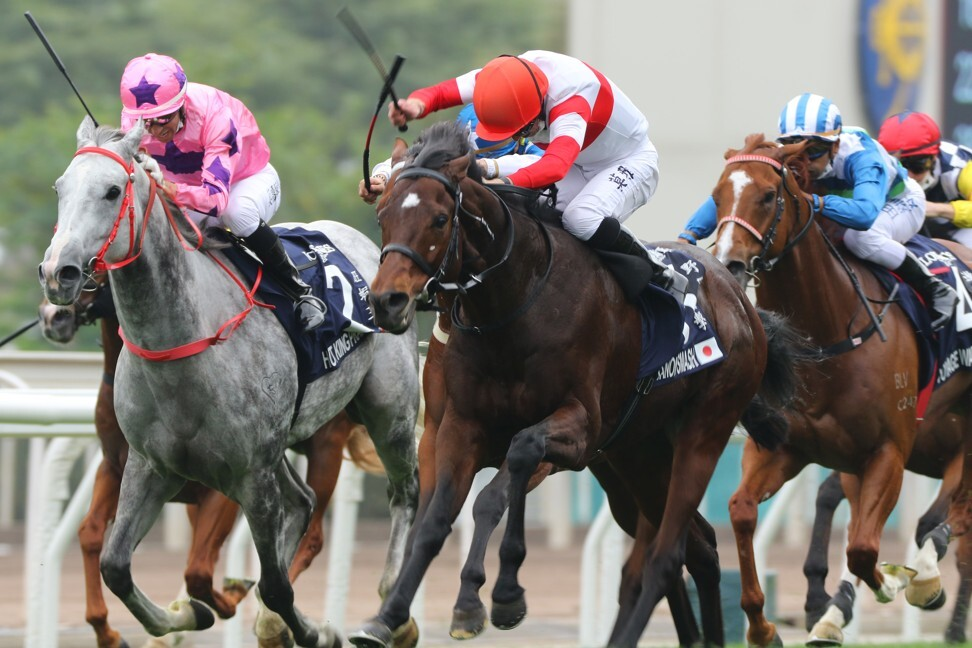 Danon Smash clears out to win the Hong Kong Sprint.