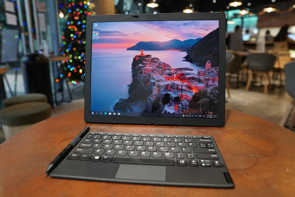 The Lenovo ThinkPad X1 Fold is a 13.3-inch tablet with a foldable screen.