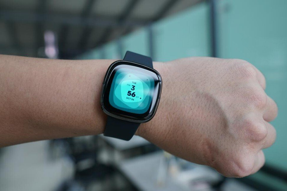 The Fitbit Sense added an electrodermal sensor, used by psychologists to identify stress levels. Photo: Ben Sin