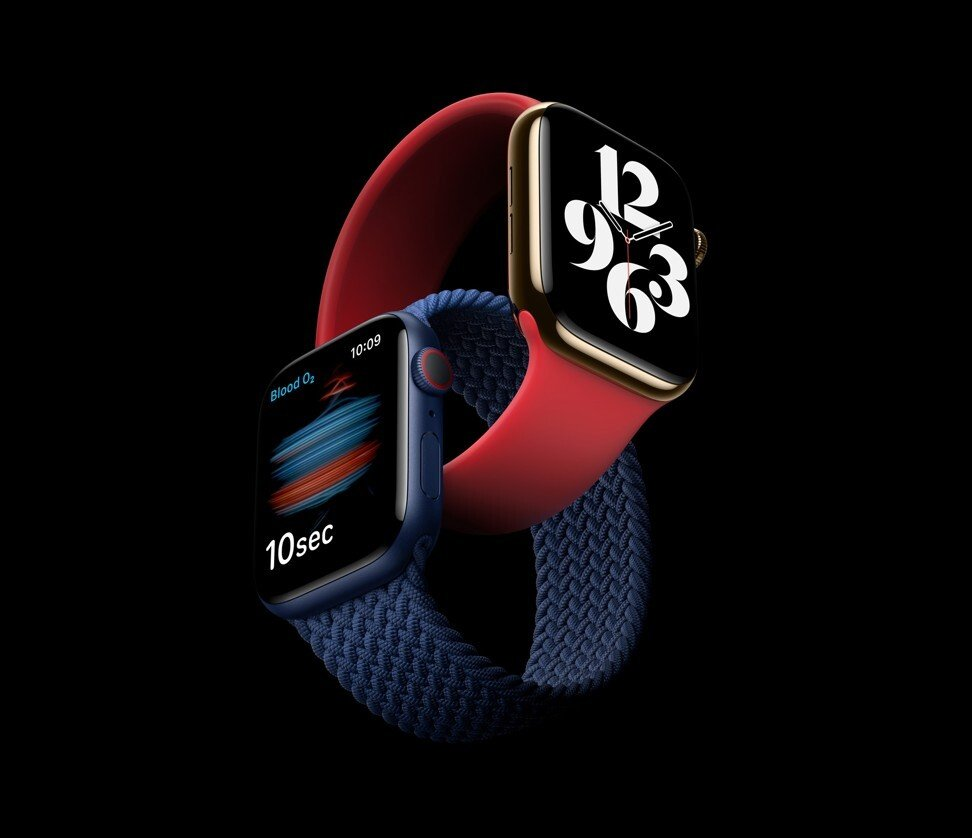 The Apple Watch Series 6 added a blood-oxygen sensor to detect oxygen saturation levels. Photo: EPA
