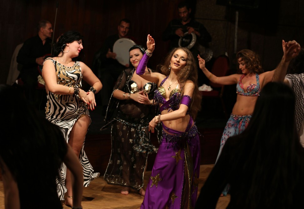 Belly dancers perform during a show at a hotel in Cairo. Photo: AFP