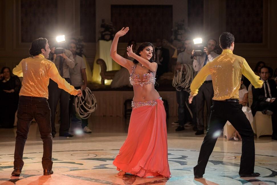 Moroccan belly dancer Maya Dbaich dances at a wedding in Cairo. Photo: AFP