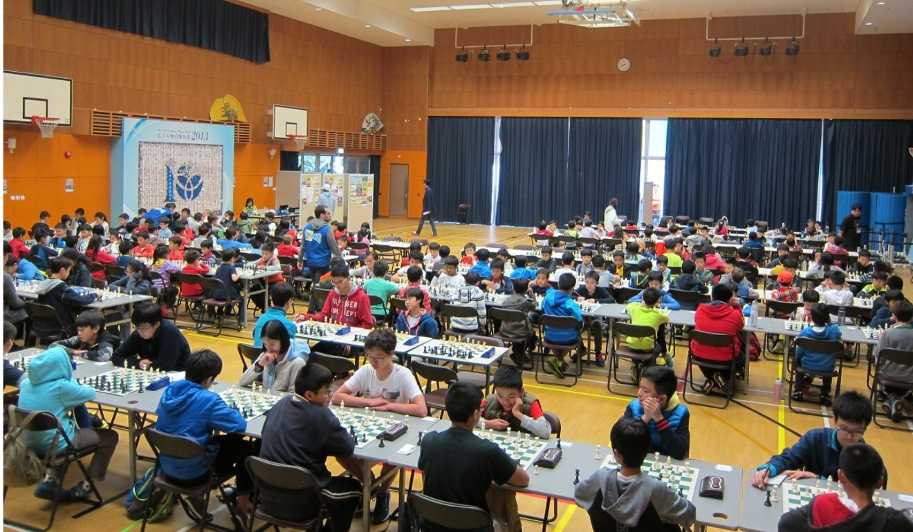 Dozens of youngsters take part in a chess tournament in Hong Kong. Photo: ActiveKids