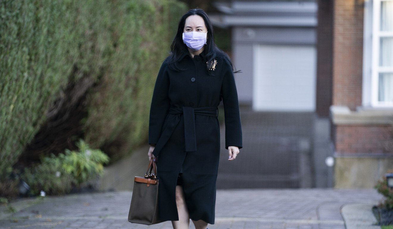 Meng Wanzhou leaves her home in Vancouver on Wednesday. Photo: AP