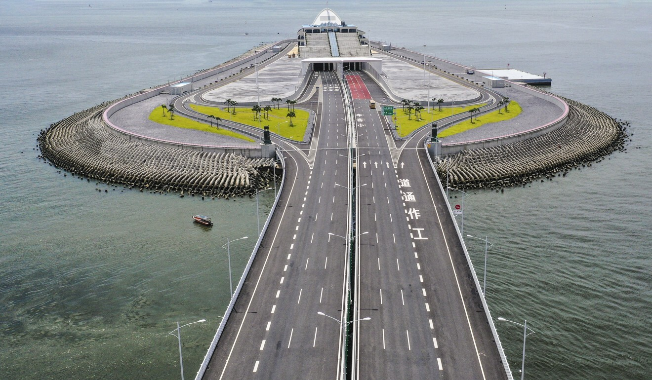 The Hong Kong-Zhuhai-Macau Bridge is one of just three entry points into Hong Kong still operating. Photo: Martin Chan