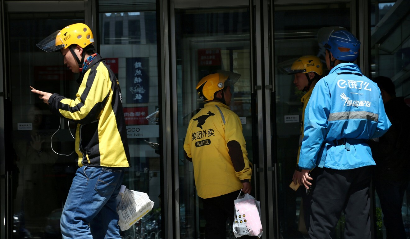According to one survey, more than 60 per cent of delivery drivers in China do not have access to social security. Photo: Reuters